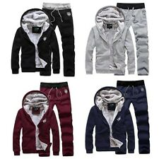 Mens Womens Unisex 2014 Thick Warm Hoodies Track Jackets Suit Sweats Sport Pants