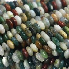 Wholesale Natural Fancy Jasper India Agate Rondelle Stone Jewelry Loose Beads