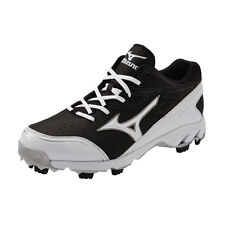 Mizuno 9 Spike Blaze Elite 4 Molded Baseball Cleats Black White New 320420-9000