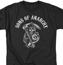 Sons of Anarchy T-shirt cool TV movie 100% cotton black graphic tee SAO105