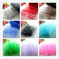 """5yd x6""""sequin tulle fabric tutu trim sewing craft Wedding party Decoration dress"""