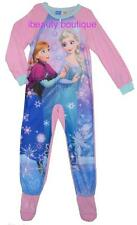 Disney Frozen ELSA ANNA Girls Footed Blanket Sleeper Sleepwear PJ's Pajama PINK