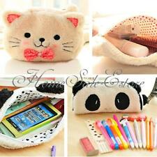 Gran Capacidad Gato Lindo Carteras Monedero Bolso Bolsa Moneda Plush Bag