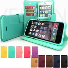 iPhone 4S 5 5S 6 6 Plus Case wallet Pu-Leather Purse Card Bill Cover Kick Stand