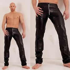 NOIR HANDMADE Grid Zip Pants Wetlook Pants Lackhose GOTHIC CLUBWEAR PARTY GAY
