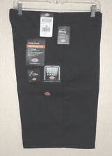NEW DICKIES Black Casual Work SHORTS Cell Phone Pocket NWT MENS 32 34