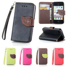 Leather Flip Stand Handbag Pouch Wallet Card Hold Skin Protector Cover Soft Case