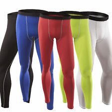 Men Base Layer Compression Tight Long Pants Running Athletic Sports Gear S-XXL