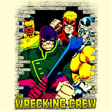 The Wrecking Crew t shirt Marvel comics Bulldozer Piledriver Thunderball Wrecker
