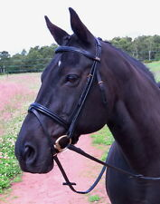 STUBBEN 2300 Leitrim COMFORT PADDED MONO CROWN Caveson Flash PATENT BRASS Bridle