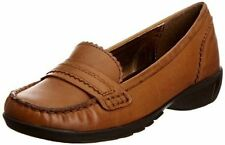 Womens Hush Puppies Noma Brown Moccasins Slip On Sizes 5 6.5 7 - Wide EE fitting
