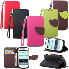 Leather Flip Stand Pouch Wallet Money ID Credit Card Clip Skin Soft Case Cover