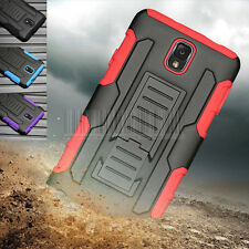 For Samsung Galaxy Note III 3 N9000 Rugged Hybrid Armor Case Cover Clip Holster