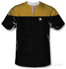 Star Trek Voyager - Command Uniform Costume Tee T-Shirt Sublimate White