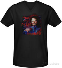 Childs Play 3 - Time To Play V-Neck T-Shirt Black