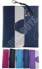 Dual Colour Leather Case Stand Wallet for Samsung Galaxy S5