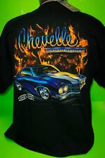 CHEVY CHEVELLE SS IN FLAMES TEE SHIRTS (NEW)