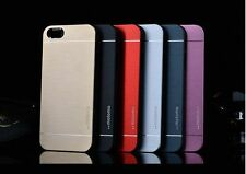 Luxury Metal Aluminum Brushed + PC Hard Back Cover Case Skin For iPhone 4S 5S 6S