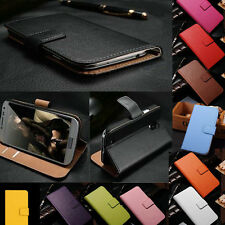 Genuine Real Leather Flip Case Cover Wallet Card Holder For Huawei Ascend
