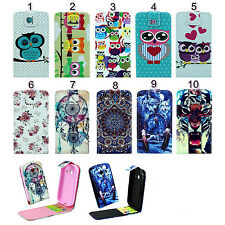 New Stylish Vertical Patterned Flip Leather Case Cover For Samsung Smart Phones