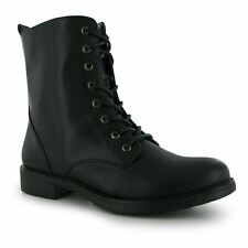 Kangol Womens Ladies Military Boots High Ankle Collar Full Lace Up Fastening