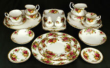 ROYAL ALBERT OLD COUNTRY ROSES PLATES, TEA & COFFEE CUPS ETC, MADE IN ENGLAND