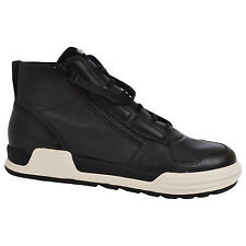 adidas SLVR Mens Syin Leather Double Zip Lace High Tops Shoes Trainers - Black