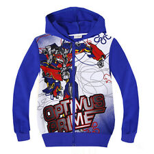 Transformers Autobots Optimus prime Boys Girls Hoodie Coat Clothing 2-8 Years