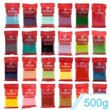 Renshaws Regalice 500g of Ready Roll Icing Sugarpaste Fondant Bright Colours