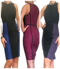 Dress Lace Party Black Bodycon Evening Wiggle Sexy Womens Size 8 10 12 14 16 18