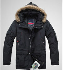 New men's Parka 90% duck down jacket Thicken Warm winter Coat liner detachable