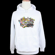JDM Eat Sleep Sticker Bomb Illest Hellaflush Mens Graphic Hoodie Sweatshirt Tops