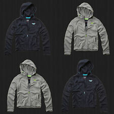 Hollister By Abercrombie Men Sport Full-Zip Water Repellent Hoodie Sweat Shirt