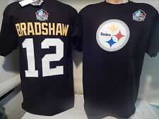 41205 MENS Pittsburgh Steelers TERRY BRADSHAW ELIGIBLE RECIEVER Jersey Shirt BLK