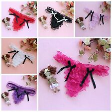 1 Pcs New Women Mixed Color Bow-Knot Lace Sexy Thongs Briefs G-string Underwear