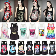 New Women Tank Top Print Gothic Punk Rebel Ariel Mermaid Vest Sleeveless T Shirt