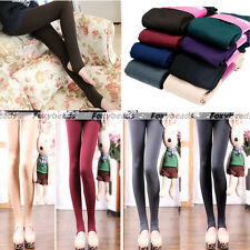 Colorful Winter Warm Thick Stretch Stirrup Skinny Slim Leggings Pencil Pants HOT
