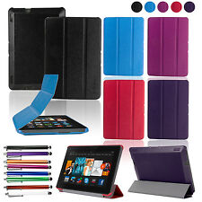 "PU Leather Sleep/Wake For Amazon Kindle Fire HDX 7 7"" inch Stand Case Cover New"