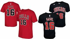 Chicago Bulls Pau Gasol #16 Name & Number T-shirt NBA Adidas Jersey Style Tee