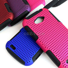 For ZTE Savvy Z750C Colorful APEX Hybrid Gel Perforated Hard Soft Case Cover
