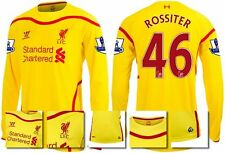 *14 / 15 - WARRIOR ; LIVERPOOL AWAY SHIRT LS + PATCHES / ROSSITER 46 = SIZE*