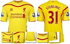 *14 / 15 - WARRIOR ; LIVERPOOL AWAY SHIRT SS + PATCHES / STERLING 31 = SIZE*