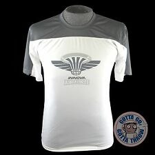 Innova AIR FORCE Rapid-Dry Short Sleeve Disc Golf Jersey - WHITE / LIGHT GRAY