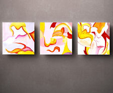 HD Print Oil painting Picture Modern Abstract on canvas set of 3 W015
