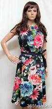 PLUS SIZE VINTAGE STYLE FLORAL PRINT 50s ROCKABILLY DRESS 16 18 20 22 24 26 28