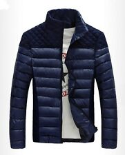 Hot Men's fashion casual thick padded jacket Slim stitching hooded cotton coat