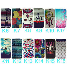 Art Style Leather Flip Wallet Stand Case Cover For Samsung Galaxy S4 Mini i9190