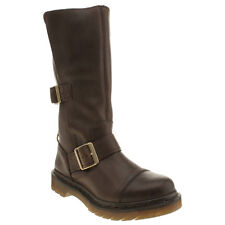 DR MARTENS TRIUMPH KATHLEENA WOMENS BROWN LEATHER CALF BOOTS