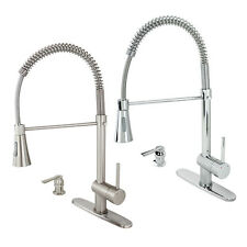 Modern Kitchen Faucet Bar Sink Pull-Out Swivel Spout Holding Arm Soap Dispenser