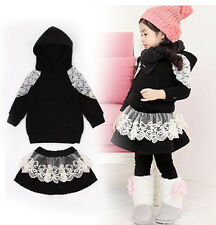 Long sleeve autumn winter baby kid clothes girls dress outfits sets pants B184